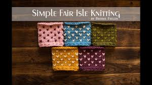 simple fair isle knitting