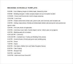 Template For Wedding Program Wedding Schedule Template U2013 25 Free Word Excel Pdf Psd Format