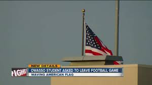 Flying The Flag Upside Down Owasso Student Asked To Leave Football Game For Waving American