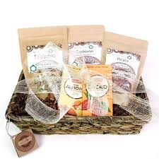 non food gift baskets organic nuts and superfoods vegan gift basket free shipping