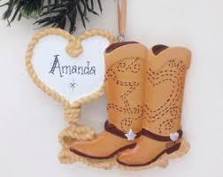 cowboy boot ornament etsy