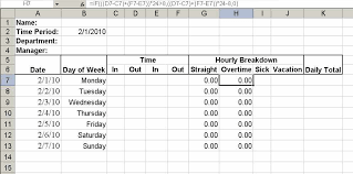 how to make a timesheet in excel build a simple timesheet in excel techrepublic