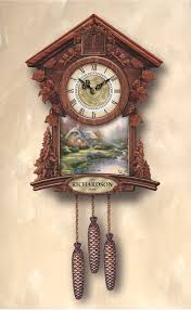 kinkade timeless moments personalized cuckoo clock the
