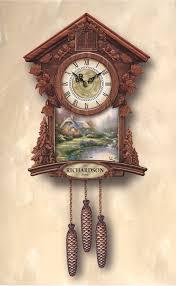 thomas kinkade timeless moments personalized cuckoo clock the