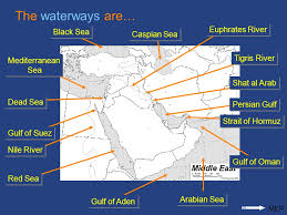 middle east map gulf of oman unit 6 review continuation ppt
