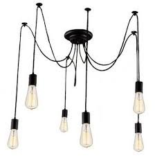 Wire Chandelier Diy Kiven 6 Heads Vintage Chandelier Diy Home Ceiling Light Fixtures