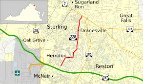 Reston Virginia Map by Virginia State Route 228 Wikipedia