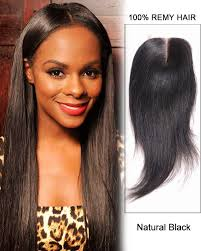 long black hair with part in the middle middle part lace closure natural black straight virgin indian hair
