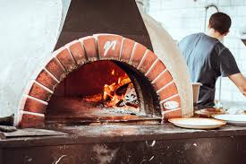 burning brick pizza oven free stock photo negativespace