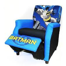 new batman kids recliner boys toddler blue superhero armchair