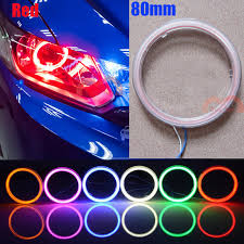 halo rings red images 2pcs 80mm red angel eyes halo rings cob led lights car motorcycle jpg