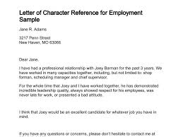 character reference for employee letter of character reference 8
