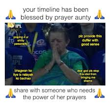 Praying Memes - turns out the praying aunty who became a meme at the ipl final is