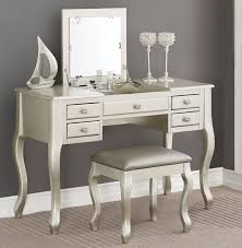 Flip Top Vanity Table Park Place Silver Dressing Table With Flip Top Mirror