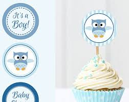 nautical baby shower cupcake toppers printable baby shower cup