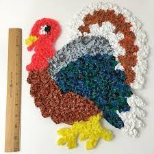 melted plastic popcorn turkeys vintage thanksgiving decorations