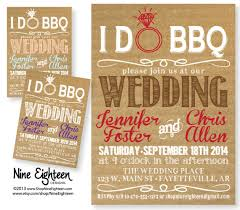 Backyard Wedding Invitations Ido Bbq Wedding Invitation Kraft Cardboard Look By Nineeighteen