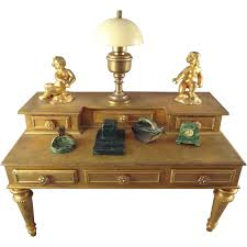 Brass Desk Accessories by Doll House Faux Marble Desk Accessories Inkwell Blotter Clock