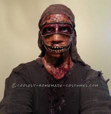 creepy zipper face halloween costume for a boy zipper face