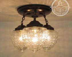 Glass Kitchen Light Fixtures Uniquely Crafted Jar Lights Modern By Lgoods On Etsy