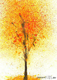 splatter paint fall tree craft