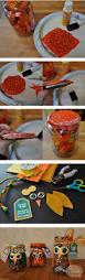 Halloween Candy Jars by Owl Candy Jars Diy Using Recycled Jars U0026 Leftover Halloween Candy