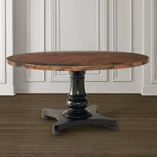 hammered copper dining table 54 round copper dining table by bassett furniture dining room