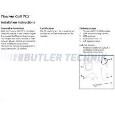 thermo call tc3 mobile telephone remote control 7100350c