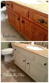 Brown Bathroom Cabinets by Best 20 Bathroom Vanity Makeover Ideas On Pinterest Paint