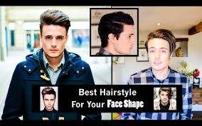 choosing the best hairstyle for your face shape mens hair youtube