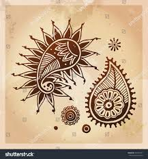 indian ethnic henna tattoo patterns orient stock vector 342309101