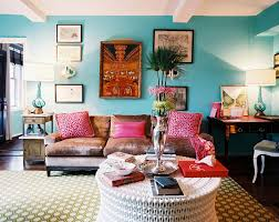 Pillows For Brown Sofa by Blue Living Room Walls With Brown Sofa And Pink Pillows Blue