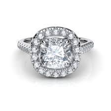 cushion cut diamond engagement rings floating halo cushion cut diamond engagement ring