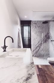 Black Faucets by Bathroom With Marble Natural Wood And Black Faucets Bathroom 1