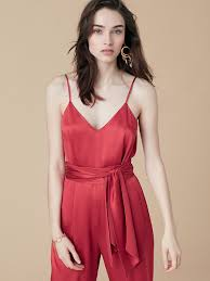 Red Jumpsuits For Ladies Designer Jumpsuits U0026 Rompers For Women By Dvf