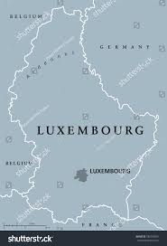 Map Of Luxembourg Luxembourg Political Map Capital National Borders Stock Vector