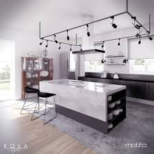 kitchen with an island design visualization of an eclectic style kitchen freelancers 3d