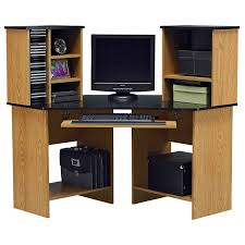 computer desk with file cabinet dark honey best home furniture