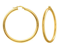 gold hoop earings 14k solid yellow gold hoop earrings with slider groupon gold
