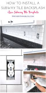 how to install a subway tile backsplash free subway tile