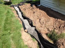 home design chic french drain installation for drainage system