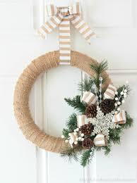 burlap wreath tutorial of family home