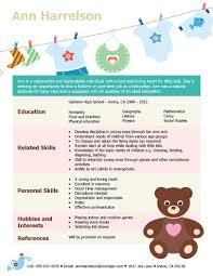 nanny caregiver resume examples babysitting bio resume sample stay at home mom resume sample