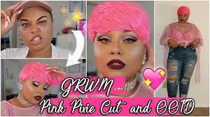 pixie cut plus size issa barbie look grwm pink pixie cut plus size ootd youtube