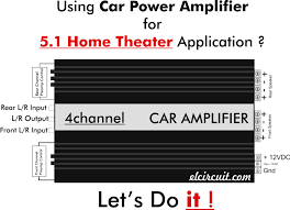 home theater subwoofer amplifier 5 1 home theater using car power amplifier electronic circuit