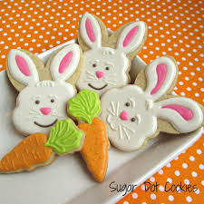 rabbit cookies easter cookies sugar dot cookies handmade decorated sugar