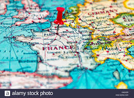 Europe On Map by Paris Pinned On Map Europe Stock Photos U0026 Paris Pinned On Map