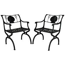 Garden Chairs Png Superb Pair Of Cast Aluminum Garden Chairs With Seahorse And Shell