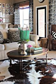 interior fabulous cowhide rugs for living room design with white