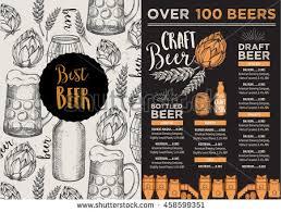 beer restaurant badges vector alcohol menu stock vector 390520783